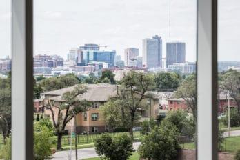 Photo of city sky line.