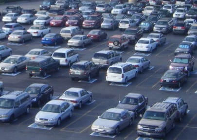 Photo of cars in a parking lot.